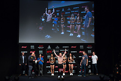October 27, 2017 - Sao Paulo, Sao Paulo, Brazil - Weighing ceremony prior to the UFC Fight Night Sao Paulo, at the Ibirapuera Gymnasium in Sao Paulo Brazil. (Credit Image: © Paulo Lopes via ZUMA Wire)