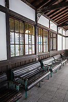 Built in 1904, original Nijo Station is one of the oldest Japanese wooden train stations in Japan. Now a part of Kyoto Railway Museum, it has been turned into a gift shop and a kind of retro exhibit. It was designated in 1996 as one of Kyoto city's tangible cultural assets