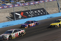 November 12, 2017 - Avondale, Arizona, United States of America - November 12, 2017 - Avondale, Arizona, USA: Denny Hamlin (11) has major damage and championship hopes end during the Can-Am 500(k) at Phoenix Raceway in Avondale, Arizona. (Credit Image: © Justin R. Noe Asp Inc/ASP via ZUMA Wire)