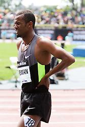 Samsung Diamond League adidas Grand Prix track & field; men's 1500 meters, post race, Ayanieh Suleiman, DJI,