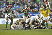 Reading, GREAT BRITAIN, referee, warning not to enter from the side, during the third round Heineken Cup game, London Irish vs Ulster Rugby, at the Madejski Stadium, Reading ENGLAND, Sat 09.12.2006. [Photo Peter Spurrier/Intersport Images]