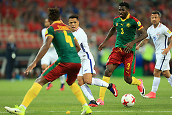 18th June 2017 - FIFA Confederations Cup (Group B) - Cameroon v Chile - Alexis Sanchez of Chile passes the ball beyond Andre-Frank Zambo Anguissa of Cameroon - Photo: Simon Stacpoole / Offside.