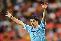 Football - 2010 FIFA World Cup - 2nd Round - Uruguay vs. Korea Republic<br /> Luis Suarez of Uruguay in action at the Nelson Mandela Bay Stadium, Port Elizabeth