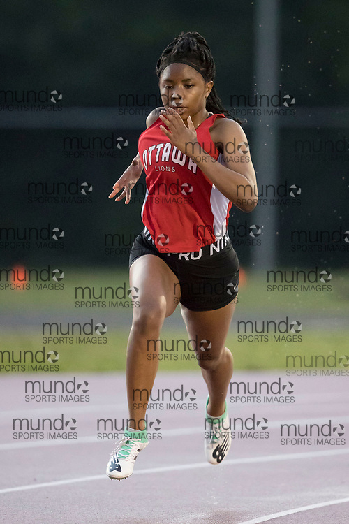 (Ottawa, Canada --- 25 July 2020)  at the first 2020 Ottawa Summer Twilight track and field meet held under COVID-19 rules at the Terry Fox Athletic Facility. Photo 2020 Copyright Sean Burges / Mundo Sport Images.