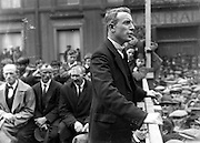 Republican Eamonn Kissane adresses a group in Tralee in the 1930's.<br /> ump to: navigation, search<br /> <br /> Eamonn Kissane (1899 – 20 May 1979) was an Irish teacher, barrister and Fianna Fáil politician, who served as a Teachta Dála (TD) for 19 years and then as a Senator for 14 years.[1]<br /> Career<br /> <br /> Kissane was first elected to Dáil Éireann as TD for the Kerry constituency at the 1932 general election which began sixteen years of unbroken rule for Éamon de Valera's Fianna Fáil. In the last months of the 10th Dáil, Kissane got his first promotion, as Parliamentary Secretary to the Minister for Lands, from February to June 1943. After Fianna Fáil's victory at the 1944 general election, Kissane was appointed as Parliamentary Secretary to the Taoiseach (Government Chief Whip) and as Parliamentary Secretary to the Minister for Defence. He served in that position until when Fianna Fáil was defeated at the 1948 general election, when the First Inter-Party Government took office.<br /> <br /> Fianna Fáil won the 1951 general election, but Kissane lost his own Dáil seat in Kerry North. He stood again in Kerry North at the 1954 general election, but was not successful.[2] After his defeat in 1951, Kissane was nominated by the Taoiseach to the 7th Seanad, and in 1954 he was elected by the Cultural and Educational Panel to the 8th Seanad. The panel returned him to the next two Seanads, but he did not contest the 1965 election to the 11th Seanad, and retired from politics.<br /> Picture by Daniel MacMonagle