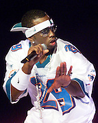 Puff Daddy performs at the Source Hip Hop Awards in Miami, 2002. Colin Braley/Stock