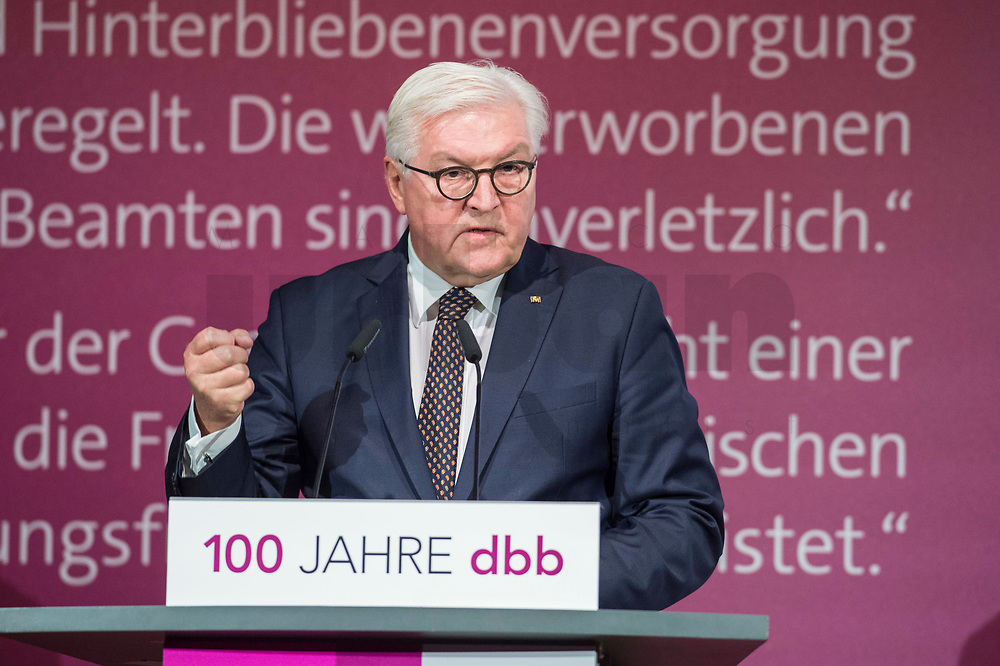 29 NOV 2018, BERLIN/GERMANY:<br /> Festakt mit Bundespraesident Steinmeier anl. des 100. Gruendungsjubilaeums des Beamtenbunds, dbb forum berlin<br /> IMAGE: 20181129-01-129<br /> KEYWORDS;´: Gründung, Jubiläum,