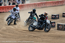 Hooligan racing on the Fist City Flat Track at the Tennessee Motorcycles and Music Revival at Loretta Lynn's Ranch. Hurricane Mills, TN, USA. Saturday, May 22, 2021. Photography ©2021 Michael Lichter.