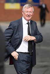 © Licensed to London News Pictures. 27/08/2015. Bury, UK.  Picture shows Alex Ferguson. The funeral of Neville Neville father of footballers Gary & Phil Neville & England net ball coach Tracey has taken place today at Bury Parish church. Neville died in Australia after being taken ill on a visit to support his daughter  Tracey.  Photo credit: Andrew McCaren/LNP