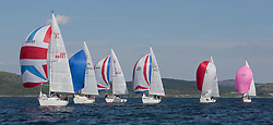 Sailing - SCOTLAND  - 25th-28th May 2018<br /> <br /> The Scottish Series 2018, organised by the  Clyde Cruising Club, <br /> <br /> First days racing on Loch Fyne.<br /> <br /> Sigma 33 Fleet with GBR8856Y, Mayrise, James Miller, Helensburgh SC<br /> <br /> Credit : Marc Turner<br /> <br /> <br /> Event is supported by Helly Hansen, Luddon, Silvers Marine, Tunnocks, Hempel and Argyll & Bute Council along with Bowmore, The Botanist and The Botanist