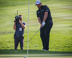August 5, 2018 - Reno, Nevada, U.S - Sunday, August 5, 2018.SHANE LOWRY hits onto the 18th green during the 2018 Barracuda Championship at the Montreux Golf & Country Club. ..The Barracuda Championship Golf Tournament is one of only 47 stops on the PGA Tour worldwide, and has donated nearly $4 million to charity since 1999. Opened in 1997, the par-72 course was designed by Jack Nicklaus, plays at 7,472 yards (6,832 m) and its average elevation is 5,600 feet (1,710 m) above sea level...The Montrux Golf and Country Club is located midway between Reno and Lake Tahoe...The tournament champion, Andrew Putnam, received a check in the amount of $612,000. (Credit Image: © Tracy Barbutes via ZUMA Wire)