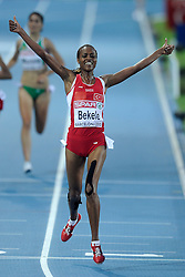 01-08-2010 ATLETIEK: EUROPEAN ATHLETICS CHAMPIONSHIPS: BARCELONA<br /> Alemitu BEKELE (TUR) - Winner 5000m Women Final <br /> ©2010-WWW.FOTOHOOGENDOORN.NL