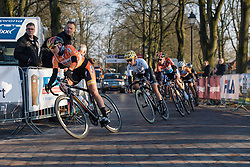 Kasia Pawłowska takes the tight corners through Dwingeloo - Drentse 8, a 140km road race starting and finishing in Dwingeloo, on March 13, 2016 in Drenthe, Netherlands.