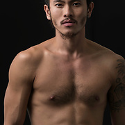 Studio fashion shoot with Los Angeles actor and dancer, Larry Myo Leong. Images made at FD Photo Studios; Stage Art 4 on March 28, 2018 in Downtown Los Angeles, California.  ©Michael Der, All Rights Reserved.  Please contact Michael Der for all licensing requests.
