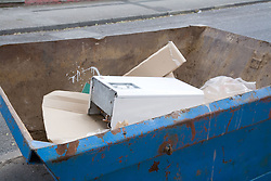 Skip full of rubbish during building work,