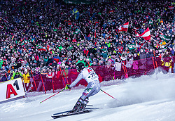 "29.01.2019, Planai, Schladming, AUT, FIS Weltcup Ski Alpin, Slalom, Herren, 2. Lauf, im Bild Alex Vinatzer (ITA) // Alex Vinatzer of Italy in action during his 2nd run of men's Slalom ""the Nightrace"" of FIS ski alpine world cup at the Planai in Schladming, Austria on 2019/01/29. EXPA Pictures © 2019, PhotoCredit: EXPA/ Stefanie Oberhauser"