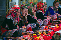 """Flower Hmong women at the market in Bac Ha, Northern Vietnam.<br /> Available as Fine Art Print in the following sizes:<br /> 08""""x12""""US$   100.00<br /> 10""""x15""""US$ 150.00<br /> 12""""x18""""US$ 200.00<br /> 16""""x24""""US$ 300.00<br /> 20""""x30""""US$ 500.00"""