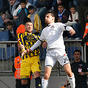 Kasimpasa's Gokhan GULEC (R) and Ankaragucu's Kagan SOYLEMEZGILLER (L) during their Turkish superleague soccer match Kasimpasa between Ankaragucu at the Recep Tayyip Erdogan stadium in Istanbul Turkey on Saturday 19 February 2011. Photo by TURKPIX