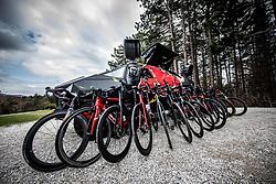 Riders at Predmeja during 2nd Stage from Portoroz to Soca, 303km at Day 2 of DOS 2021 Charity event - Dobrodelno okrog Slovenije, on April 28, 2021, in Slovenia. Photo by Vid Ponikvar / Sportida