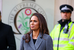 © Licensed to London News Pictures. 05/12/2016. London, UK. GINA MILLER arrives at the Supreme Court  in Westminster, London for first day of a  Supreme Court hearing to appeal against a November 3 High Court ruling that Article 50 cannot be triggered without a vote in Parliament. Photo credit: Tolga Akmen/LNP