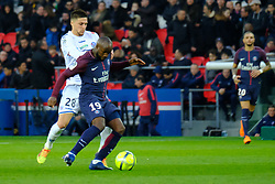 February 17, 2018 - Paris, France - Paris SG Midfield LASSANA DIARRA in action during the League 1 French championship match Paris SG against Strasbourg RC at the Parc des Princes Stadium in Paris - France..Paris won 5-2 (Credit Image: © Pierre Stevenin via ZUMA Wire)