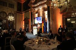15.02.2020, Residenz München, München, GER, 56. Sicherheitskonferenz in Münchner, Abendessen in der Residenz München, im Bild Ursula von der Leyen, Präsidentin der Europäischen Kommission, hält die Laudatio zur Verleihung des Ewald-von-Kleist-Preis // during a dinner on the occasion of the 56th Munich Security Conference at the Residenz München in München, Germany on 2020/02/15. EXPA Pictures © 2020, PhotoCredit: EXPA/ SM<br /> <br /> *****ATTENTION - OUT of GER*****