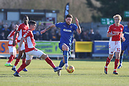 AFC Wimbledon midfielder Anthony Wordsworth (40) battles for possession with Charlton Athletic midfielder Josh Cullen (24) during the EFL Sky Bet League 1 match between AFC Wimbledon and Charlton Athletic at the Cherry Red Records Stadium, Kingston, England on 23 February 2019.