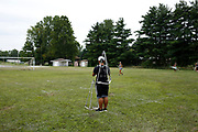 Shadow Drum and Bugle Corps rehearses in Michigan City, Indiana on August 6, 2018. <br /> <br /> Beth Skogen Photography - www.bethskogen.com