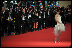 Delphine Chaneac attends the premiere of 'Madagascar 3: Europe's Most Wanted' during the 65th Cannes Film Festival, Friday May 18, 2012. Photo by Andrew Parsons/i-Images.