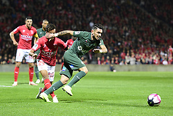 October 26, 2018 - Nimes, France - CABELLA Remy (St Etienne) vs ALAKOUCH Sofiane  (Credit Image: © Panoramic via ZUMA Press)