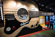 Giant guitar on display in the Country Music Hall of Fame in Nashville, TN.