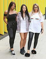 Marnie Simpson, Chloe Ferry & Abbie Holborn, Geordie Shore 15 - Series Launch Photocall, MTV HQ, London UK, 29 August 2017, Photo by Brett D. Cove