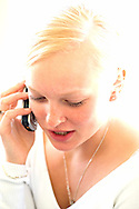 A portrait of a cell phone user for stock.