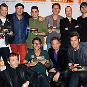 NLD/Hilversum/20130109 - Uitreiking 100% NL Awards 2012, Award winnaars Gers pardoel, Blof, Nick & Simon, Jan Smit , Nielson en RTL  Boulevard verslaggever Peter van der Vorst