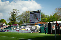 Football - 2020 / 2021 Sky Bet League Two - Newport County  vs Cheltenham Town - Rodney Parade<br /> <br /> A display on the screen at Rodney Parade congratulating Cheltenham Town on their promotion to League One.<br /> <br /> COLORSPORT/ASHLEY WESTERN
