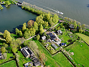 Nederland, Noord-Holland, Diemen, 07-05-2021; Overdiemerweg, twee historische boerderijen en water van De Diem.<br /> Overdiemerweg, two historic farms and water from De Diem.<br /> <br /> luchtfoto (toeslag op standaard tarieven);<br /> aerial photo (additional fee required)<br /> copyright © 2021 foto/photo Siebe Swart