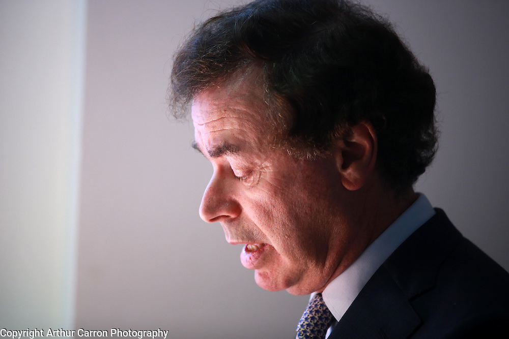 3/4/14 Minister Alan Shatter at the launch of the Mediation Clinic at Independent Colleges in Dublin. Picture:Arthur Carron