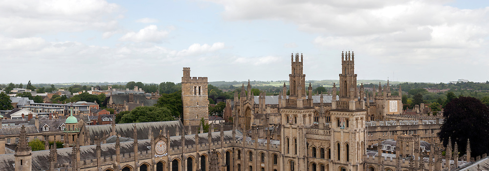 High level view over Oxford Colleges