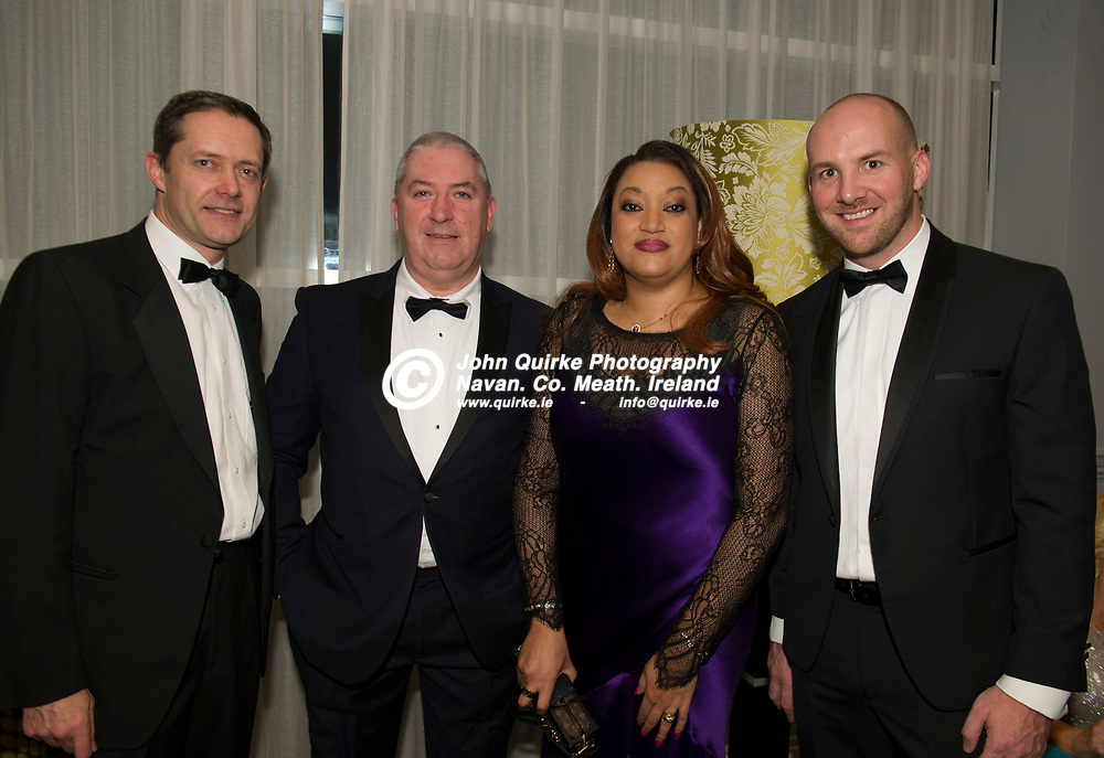 15-11-19. Meath Business and Tourism Awards 2019 at Dunboyne Castle, Hotel.<br /> L to R: Paul Bell, Noel and Valerie Moran and Gavin Healy all from eCOMM.<br /> Photo: John Quirke / www.quirke.ie<br /> ©John Quirke Photography, Unit 17, Blackcastle Shopping Cte. Navan. Co. Meath. 046-9079044 / 087-2579454.