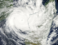 March 11, 2019 - Mozambique - NASA Aqua Satellite Image of Cyclone Idai in Mozambique Channel. Tropical cyclone Idai cut a swathe through Mozambique, Zimbabwe and Malawi, the confirmed death toll stood at more than 300 and hundreds of thousands of lives were at risk. (Credit Image: © NASA Earth/ZUMA Wire/ZUMAPRESS.com)