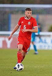 BANGOR, WALES - Saturday, November 17, 2018: Wales' Brandon Cooper during the UEFA Under-19 Championship 2019 Qualifying Group 4 match between Sweden and Wales at the Nantporth Stadium. (Pic by Paul Greenwood/Propaganda)