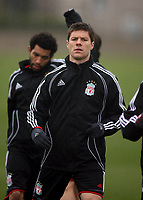 Photo: Paul Thomas.<br />Liverpool training session. UEFA Champions League. 05/03/2007.<br /><br />Xabi Alonso of Liverpool.