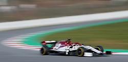 Alfa Romeo's Kimi Raikkonen during day one of pre-season testing at the Circuit de Barcelona-Catalunya.