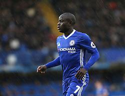 25 February 2017 London : Premier League Football : Chelsea v Swansea City :<br /> N'Golo Kante of Chelsea.<br /> Photo: Mark Leech