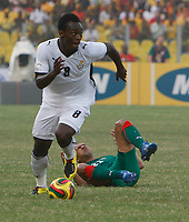 Photo: Steve Bond/Richard Lane Photography.<br /> Ghana v Morocco. Africa Cup of Nations. 28/01/2008. Michael Essien breaks free