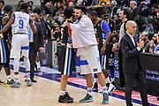DESCRIZIONE : Campionato 2014/15 Serie A Beko Dinamo Banco di Sardegna Sassari - Upea Capo D'Orlando<br /> GIOCATORE : Gianluca Basile Brian Sacchetti<br /> CATEGORIA : Fair Play Before Pregame<br /> SQUADRA : Dinamo Banco di Sardegna Sassari<br /> EVENTO : LegaBasket Serie A Beko 2014/2015<br /> GARA : Dinamo Banco di Sardegna Sassari - Upea Capo D'Orlando<br /> DATA : 22/03/2015<br /> SPORT : Pallacanestro <br /> AUTORE : Agenzia Ciamillo-Castoria/L.Canu<br /> Galleria : LegaBasket Serie A Beko 2014/2015