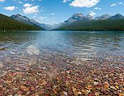 Bowman Lake, Rainbow Peak (9891 feet elevation), Glacier National Park, Montana, USA. (Photo stitched from 5 overlapping images.)