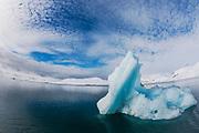 Blue ice berg ,Svalbard, Norway