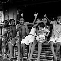 These little kids were more than happy to pose for me in Mompiche, Ecuador.