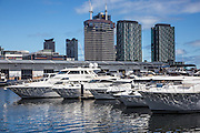 Yachts at Melbourne City Marina at Docklands